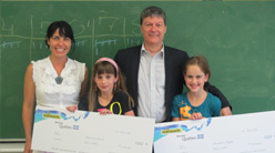 Prizes being presented at École Saint-Michel in Québec City